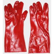 Saválló kesztyű, pvc, piros