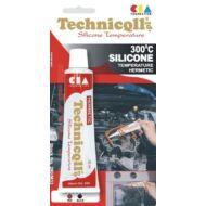 Technikoll - magashőmérséklető fekete tömítő szilikon, 70 ml