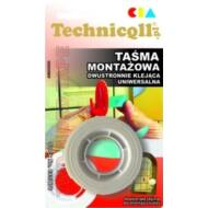 Technicoll - Kétoldalú montázs ragasztó 1,5m*19mm