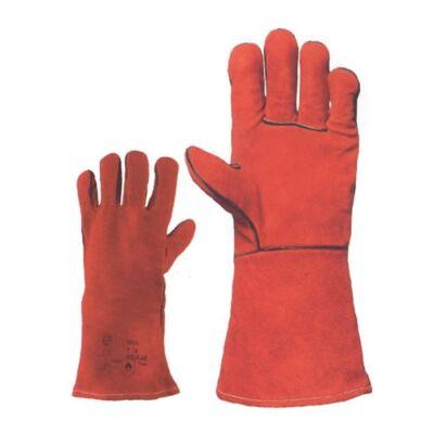 Bélelt, piros, hegesztőkesztyű, szikraálló