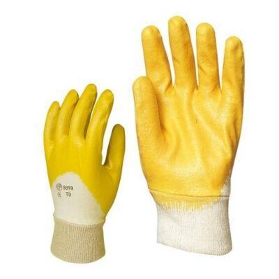 Nitril, sárga munkavédelmi kesztyű