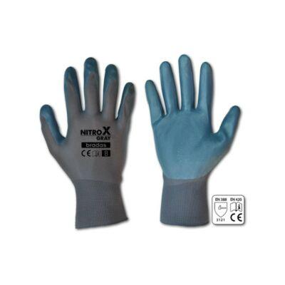 Nitrox Gray, védőkesztyű, nitril, 1 pár