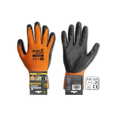 Nitrox Orange, védőkesztyű, nitril, 1 pár