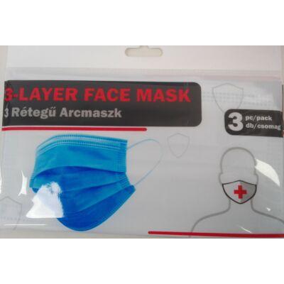 Egészségügyi arcmaszk 3 rétegű 3 db/csom