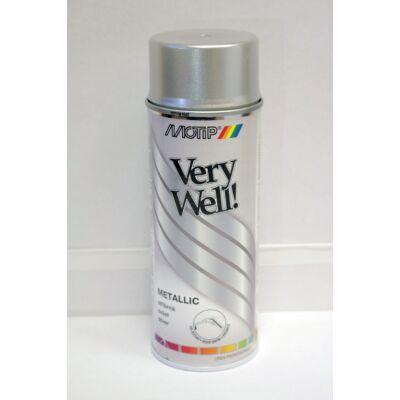 Motip - Metál ezüst, festék spray, 400 ml