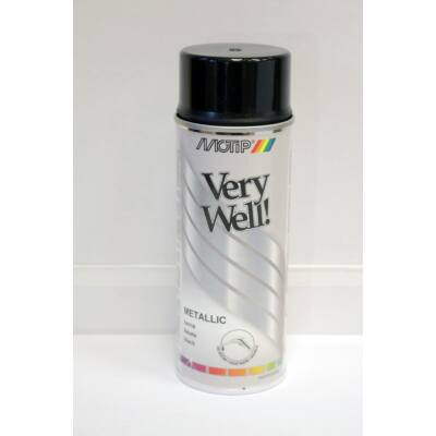 Motip - Metál fekete festék spray, 400 ml