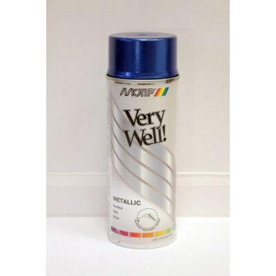Motip - Metál kék festék spray, 400 ml