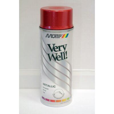 Motip - Metál piros festék spray, 400 ml